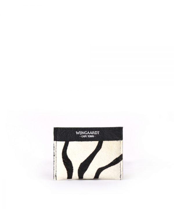 wijngaardt zebra leather card holder
