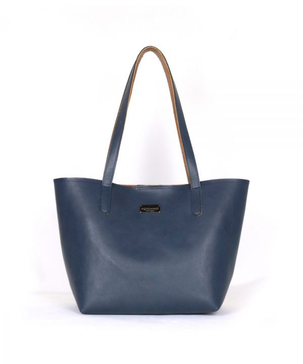 wijngaadt muse leather structured tote bag