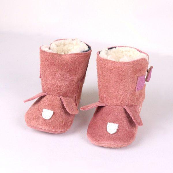 wijngaardt leather baby booties